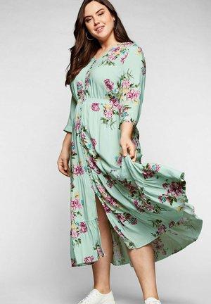 Maxi dress - pastellmint bedruckt