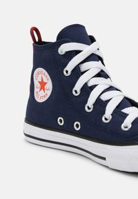Converse - CHUCK TAYLOR ALL STAR SUMMER COLOR HI UNISEX - High-top trainers - midnight navy/bright poppy/converse black - 4