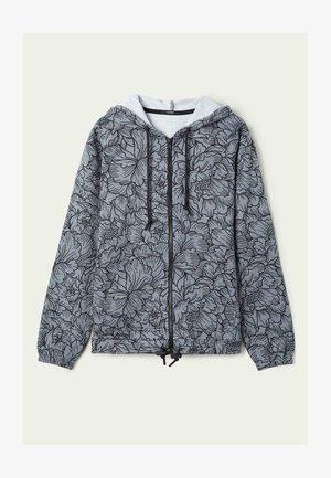 MIT REISSVERSCHLUSS UND TUNNELZUG - Zip-up hoodie - light grey