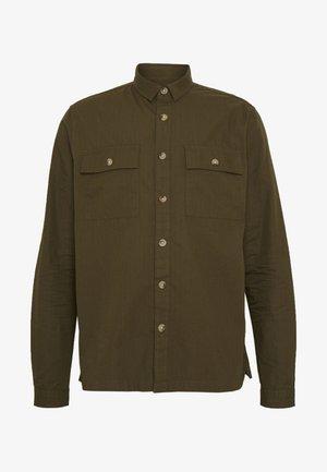 RIPSTOP SHACKET - Kostymskjorta - dark khaki