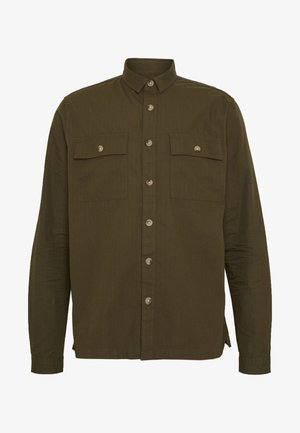 RIPSTOP SHACKET - Camicia elegante - dark khaki