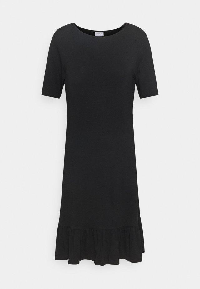 VISUS DRESS - Žerzejové šaty - black