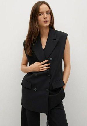 MENTA - Waistcoat - noir