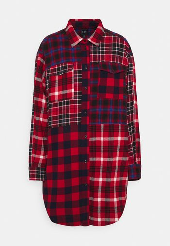 PATCH POCKET TUNIC - Bluser - red