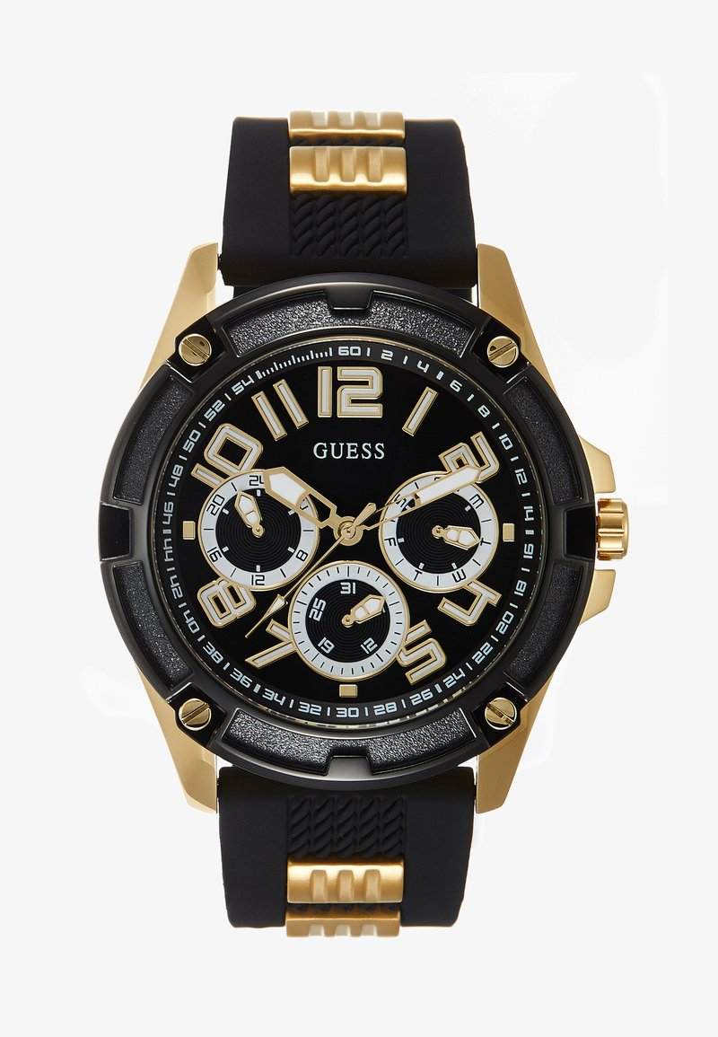 Guess - MENS SPORT MULTIFUNCTION - Hodinky - black/gold-coloured