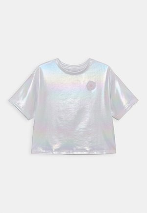 SHINY CHUCK PATCH TIE FRONT BOXY - Print T-shirt - white