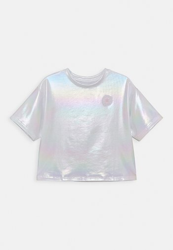 SHINY CHUCK PATCH TIE FRONT BOXY - T-shirt con stampa - white