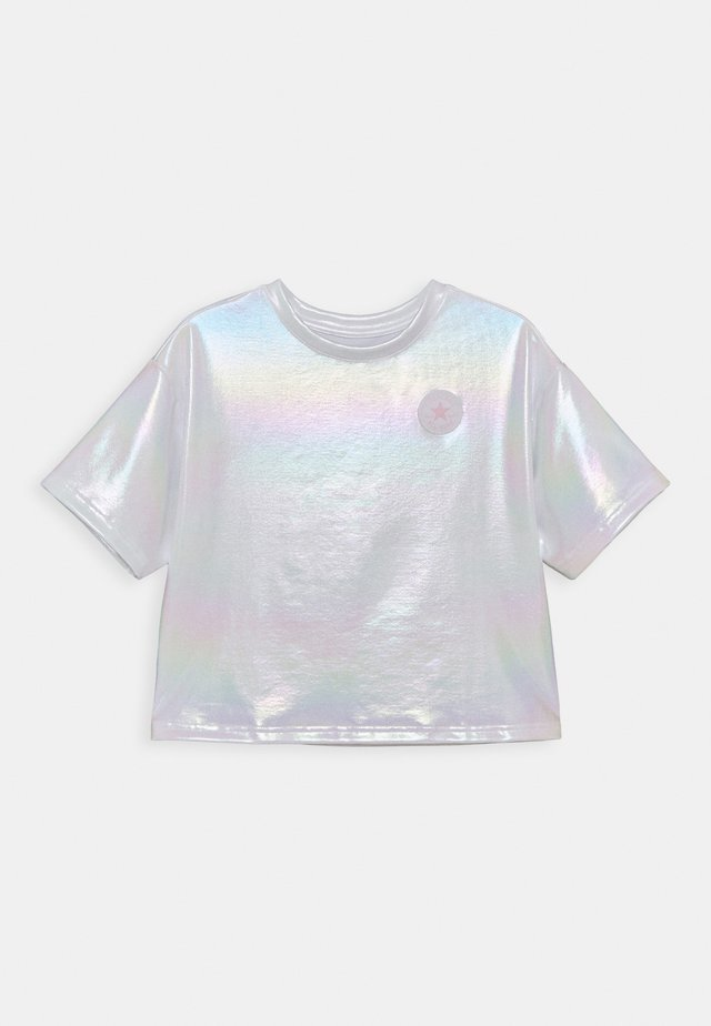 SHINY CHUCK PATCH TIE FRONT BOXY - T-shirt print - white