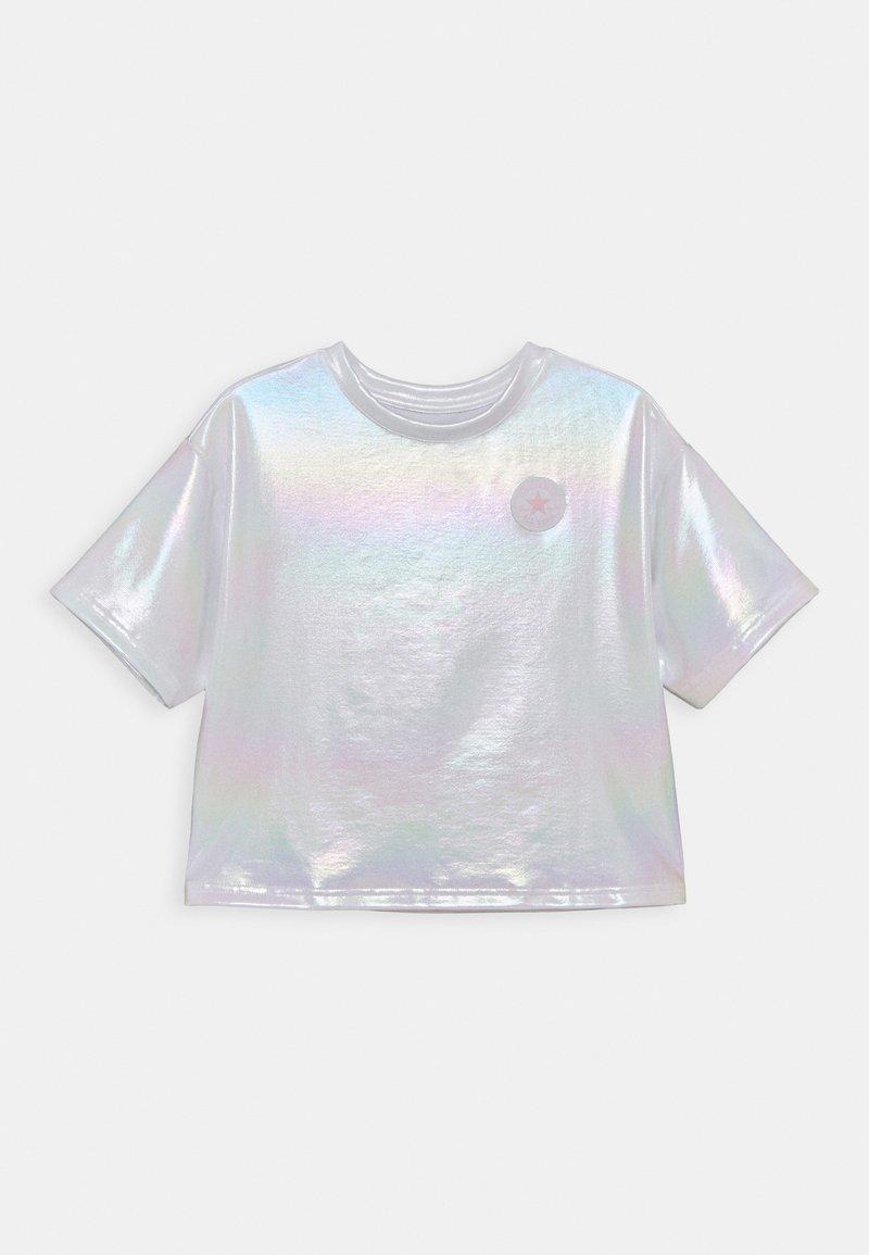 Converse - SHINY CHUCK PATCH TIE FRONT BOXY - T-Shirt print - white
