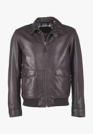 MIT BRUSTTASCHE SAMUEL - Leren jas - brown