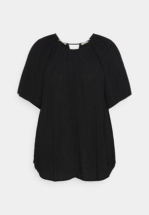BLOUSE WITH BACK DETAIL - T-shirt basic - deep black