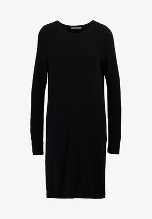 VIRIL DRESS - Strikket kjole - black