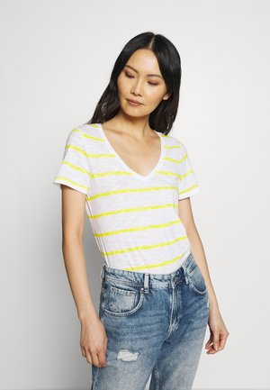EASY - Print T-shirt - yellow brushed