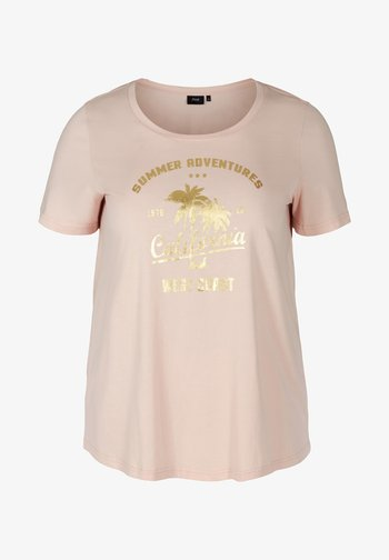 Camiseta estampada - rose smoke californ