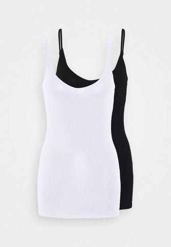 VMMAXI MY SOFT SINGLET 2 PACK - Toppi - black/bright white