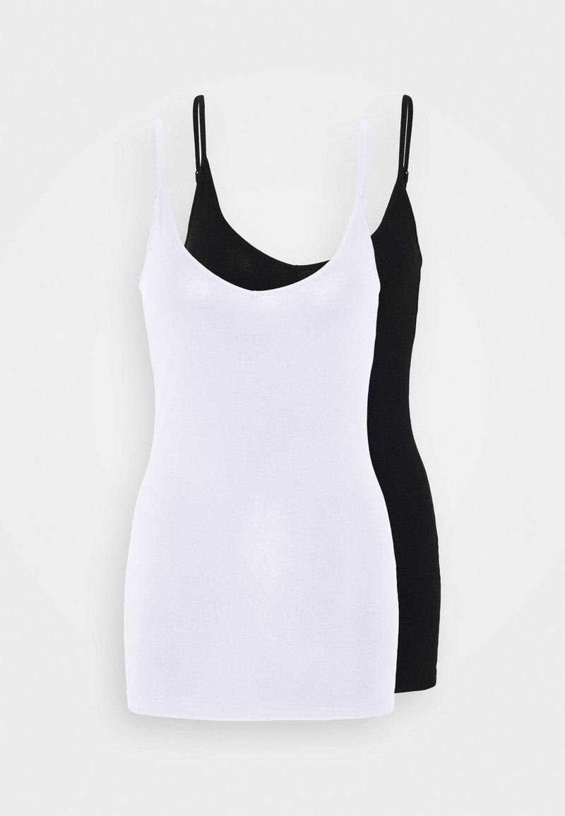 Vero Moda Tall - VMMAXI MY SOFT SINGLET 2 PACK - Top - black/bright white