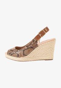 Dune London WIDE FIT - WIDE FIT KICKS  - Sandaler med høye hæler - natural - 1