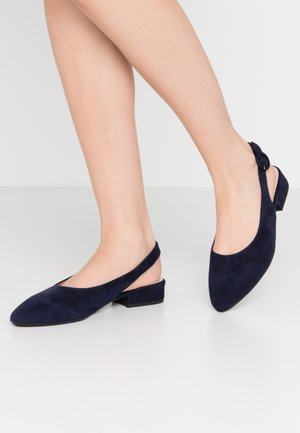 WIDE FIT FASELLE - Slingback ballet pumps - notte