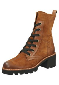 Paul Green - Lace-up ankle boots - cognac-braun 007 - 3