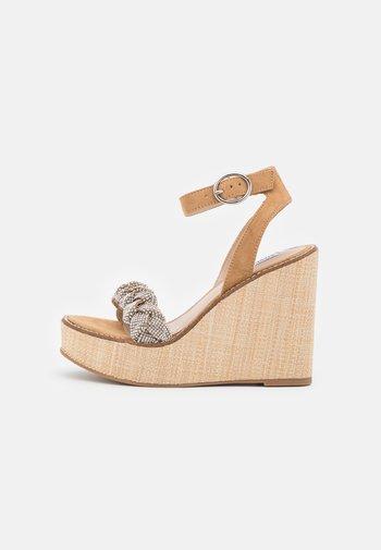 SYLVANA - Platform sandals - silver