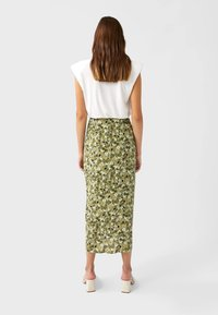 Stradivarius - Pencil skirt - light green - 2