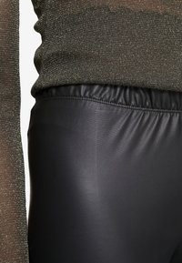 Even&Odd - Wet Look Leggings - Leggings - black - 5