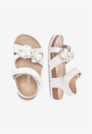 PINK CORKBED FLOWER SANDALS (YOUNGER) - Walking sandals - white
