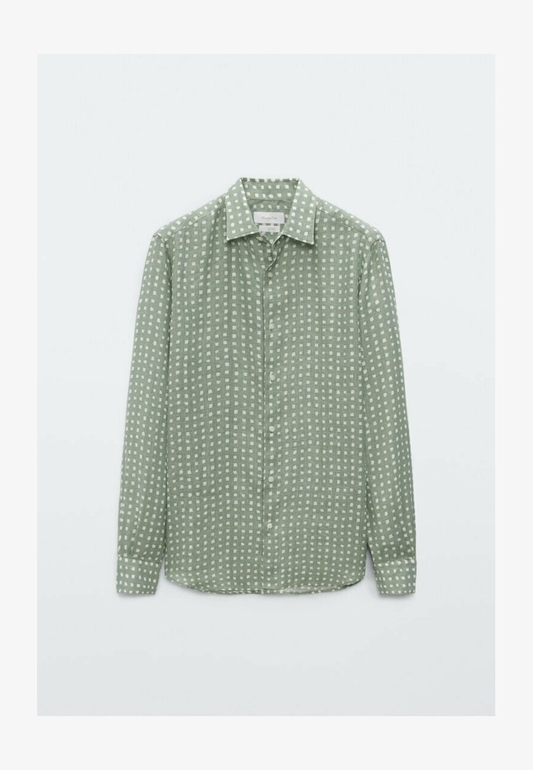 Massimo Dutti - SLIMFIT - Shirt - evergreen