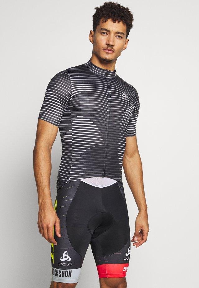 STAND UP COLLAR FULL ZIP ELEMENT - T-shirt imprimé - black/graphite grey/white
