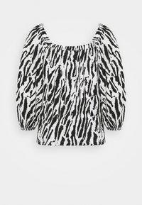 Bruuns Bazaar - BELL NARA BLOUSE - Blouse - black/white - 1