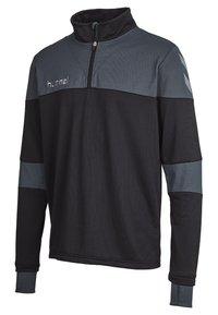Hummel - SIRIUS HALF  - Fleece jumper - black/dark slate - 2
