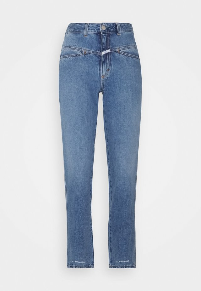 PEDAL PUSHER - Jeans baggy - mid blue