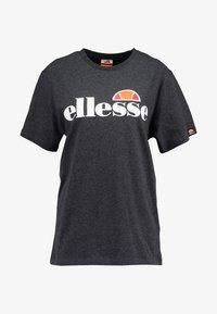 Ellesse - ALBANY - Print T-shirt - dark grey marl - 4