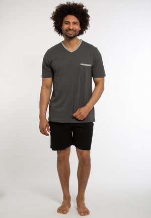 SET - Pyjama set - grau / schwarz