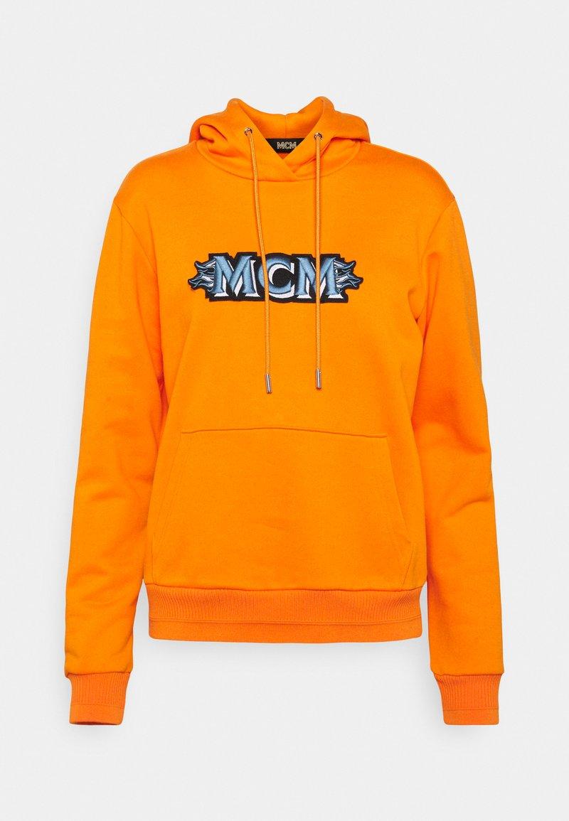 MCM - WOMENS MCM LOGO HOODIE - Hoodie - persimmon orange