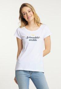 Schmuddelwedda - Print T-shirt - white - 0