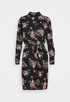 VMSAGA COLLAR DRESS  - Shirt dress - black/demi