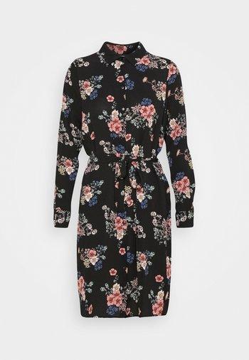 VMSAGA COLLAR SHIRT DRESS  - Košilové šaty - black/demi