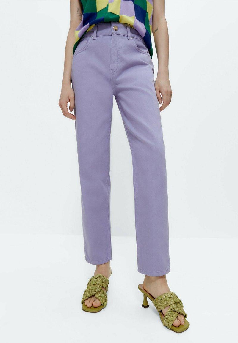 Uterqüe - Straight leg jeans - lilac