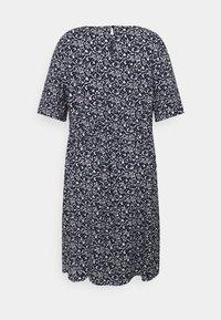 MY TRUE ME TOM TAILOR - DRESS FEMININE BASIC - Day dress - navy flowers and dots - 1