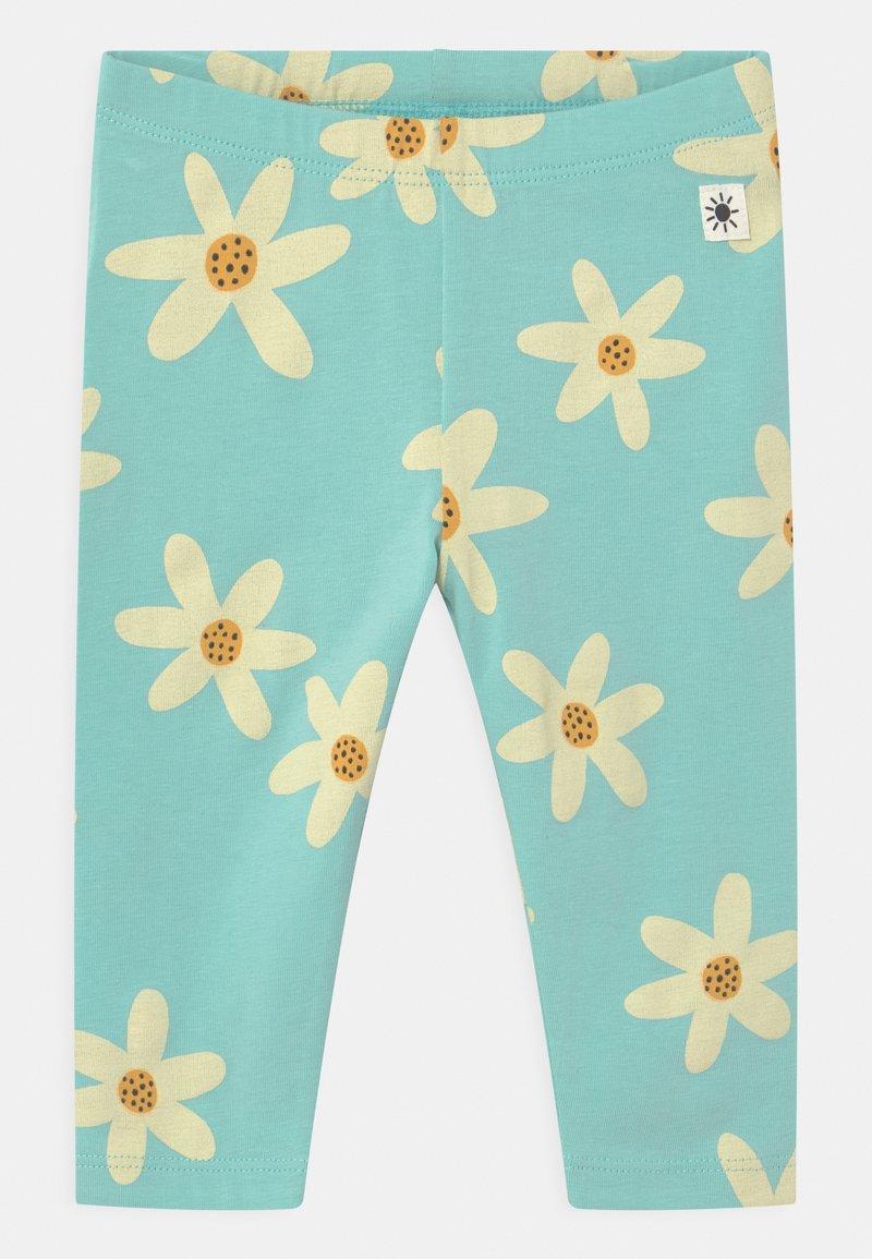 Lindex - FLOWER - Leggings - Trousers - dusty aqua