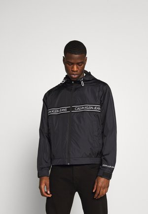 LOGO TAPE JACKET - Summer jacket - black