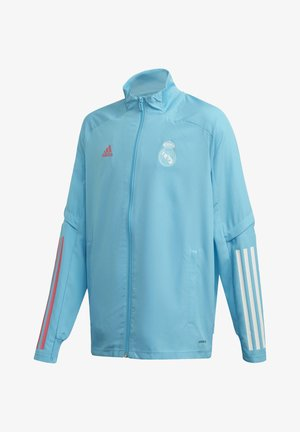 REAL MADRID SPORTS FOOTBALL TRACKSUIT JACKET - Chaqueta de entrenamiento - turquoise
