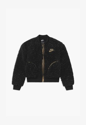 SHERPA SHINE - Bomber bunda - black/gold