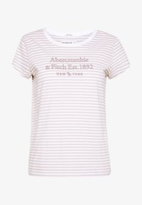 Abercrombie & Fitch - LONG LIFE LOGO - Print T-shirt - white - 3