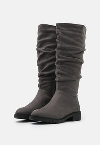 New Look Wide Fit - WIDE FIT CLOUD SLOUCH KNEE HIGH  - Vysoká obuv - mid grey - 2