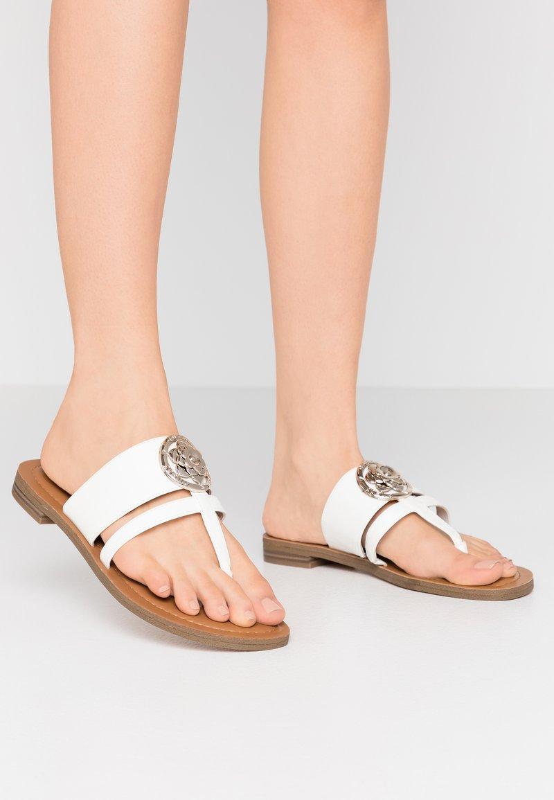 Guess - GENERA - T-bar sandals - white