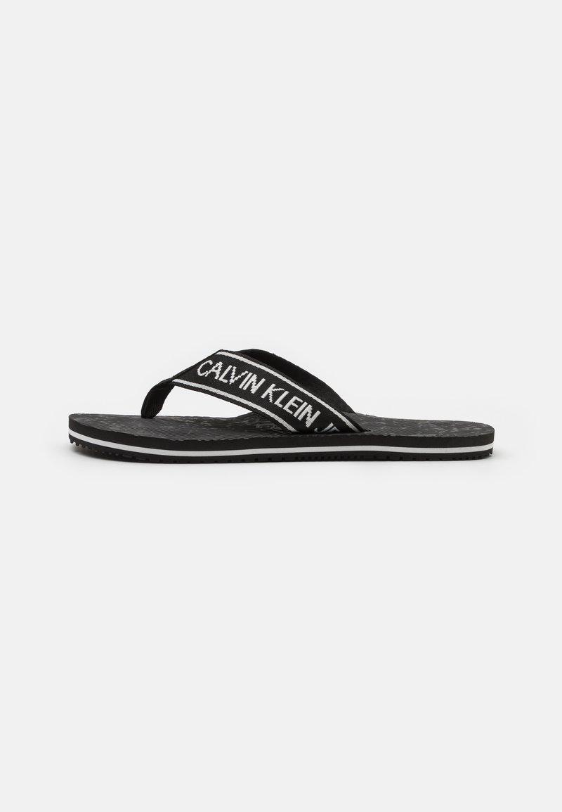 Calvin Klein Jeans - BEACH INSTITUTIONAL - T-bar sandals - black