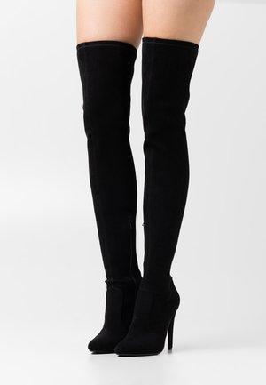 VEGAN MARJORIE - Over-the-knee boots - black