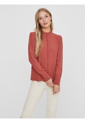 JAPANISCHER - Button-down blouse - marsala